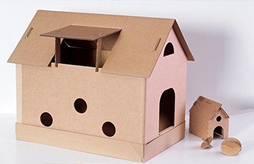 indoor katzenhaus katzenhaus pappe tipps empfehlung. Black Bedroom Furniture Sets. Home Design Ideas